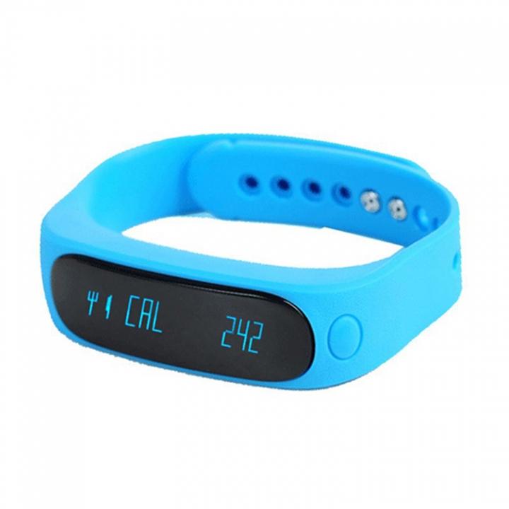 Bluetooth Intelligent Wristband Depth Waterproof Step Sleep Monitoring Fashion Wristband blue one size
