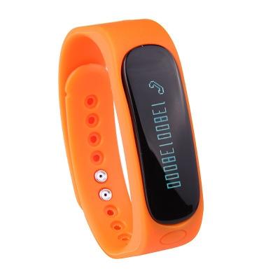 Bluetooth Intelligent Wristband Depth Waterproof Step Sleep Monitoring Fashion Wristband orange one size