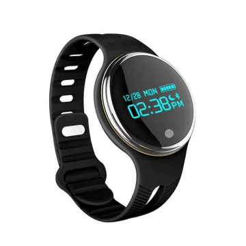 Bluetooth Intelligent Wristband Movement Pedometer Heart Rate Monitor Touch Screen black one size