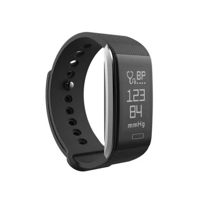 Intelligent Bluetooth Heart rate blood pressure movement Step waterproof wristband black one size