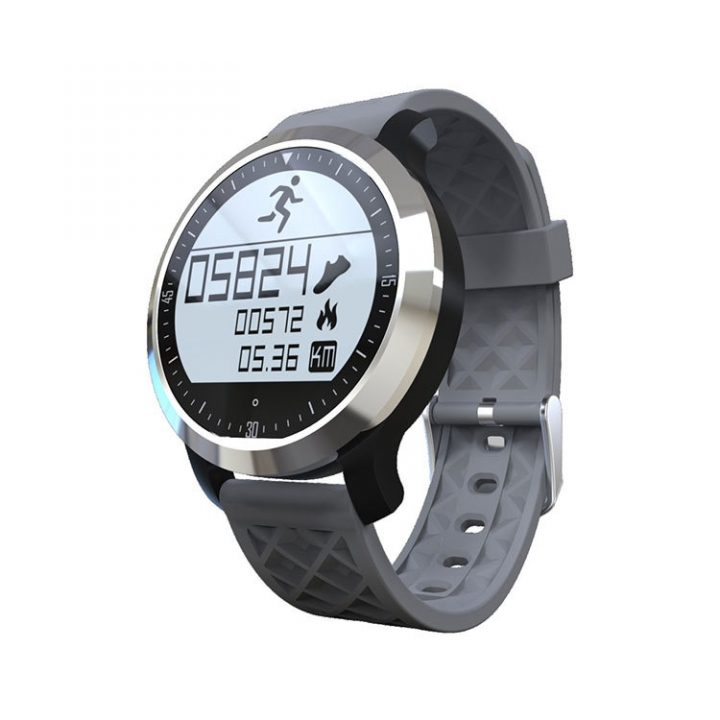 Movement Intelligent Swim Waterproof Heart Rate Step Bluetooth Wristband silver one size