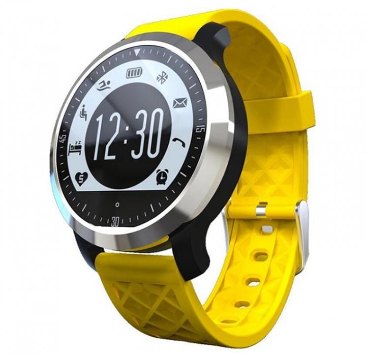 Movement Intelligent Swim Waterproof Heart Rate Step Bluetooth Wristband yellow one size
