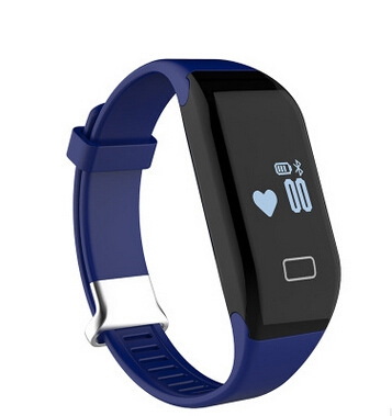 Intelligent Bluetooth Wristband Heart Rate Waterproof Movement Pedometer Sleep Monitoring blue one size