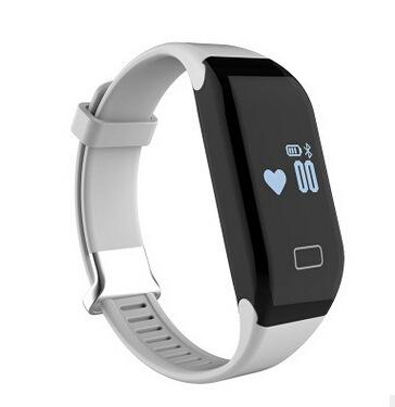 Intelligent Bluetooth Wristband Heart Rate Waterproof Movement Pedometer Sleep Monitoring white one size