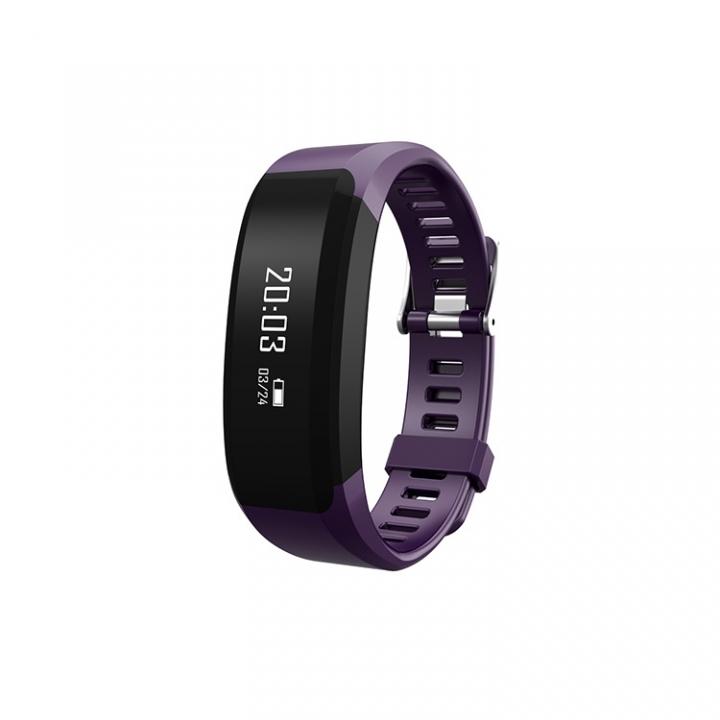 Intelligent Wristband Heart Rate Monitor Movement Pedometer Waterproof Remote Control Camera purple one size