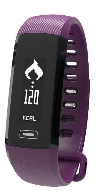 Intelligent Wristband Heart Rate Blood Pressure Blood Oxygen Six Axes Step Health Movement Wristband purple one size