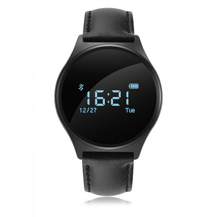 Bluetooth Intelligent Wristband  Movement Step Self-timer Call Remind News Push black one size