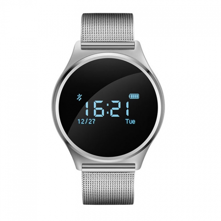 Bluetooth Intelligent Wristband  Movement Step Self-timer Call Remind News Push silver one size