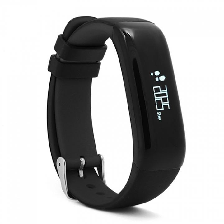 Intelligent Wristband Heart Rate Blood Oxygen Monitor Movement Step Waterproof Heart Rate Wristband black one size