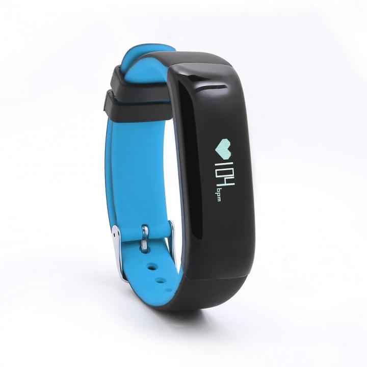 Intelligent Wristband Heart Rate Blood Oxygen Monitor Movement Step Waterproof Heart Rate Wristband blue one size
