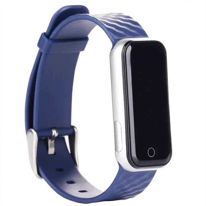 Intelligent Wristband Bluetooth Wear Watch Movement Step Heart Rate Monitor Waterproof blue one size