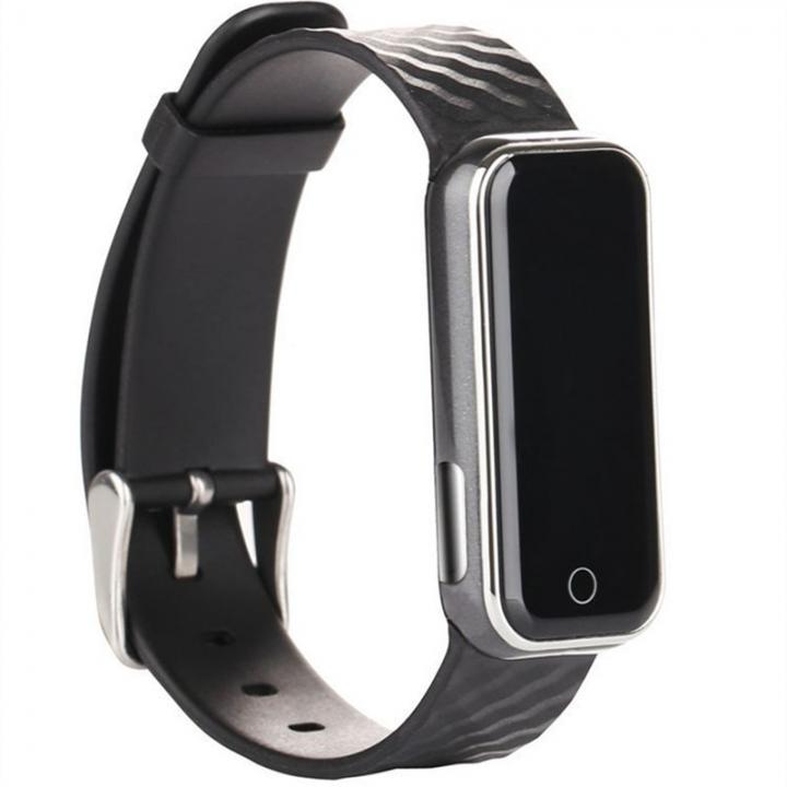 Intelligent Wristband Bluetooth Wear Watch Movement Step Heart Rate Monitor Waterproof black one size