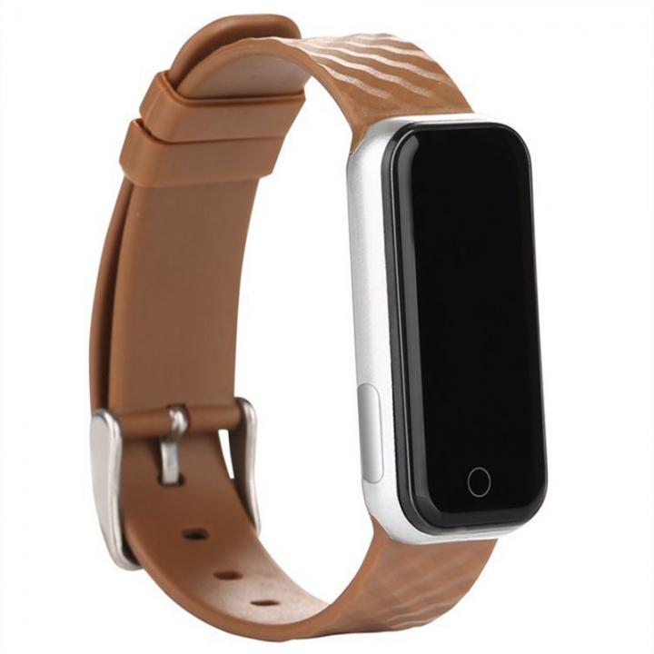 Intelligent Wristband Bluetooth Wear Watch Movement Step Heart Rate Monitor Waterproof coffee one size