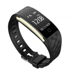 Intelligent Dynamic Heart Rate Monitor Bicycle Movement Step Bluetooth Information Push Wristband black one size