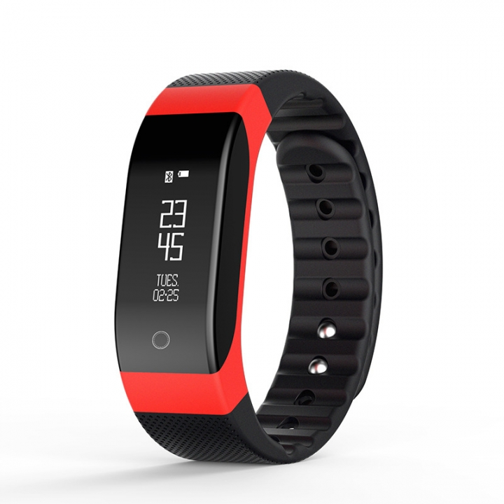 Bluetooth Intelligent Heart Rate Step Sleep Monitoring Waterproof Movement  Gift Wristband red one size
