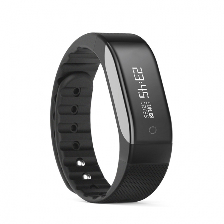 Bluetooth Intelligent Heart Rate Step Sleep Monitoring Waterproof Movement  Gift Wristband black one size
