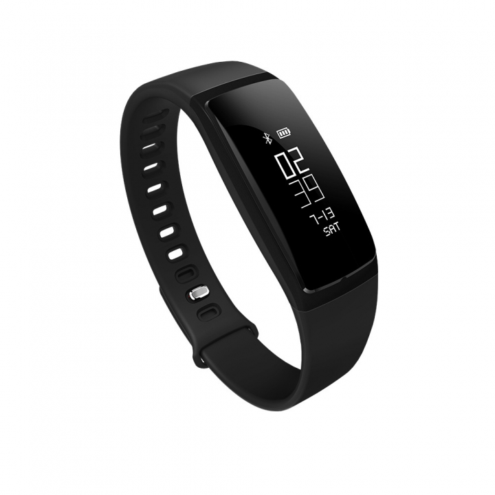 Intelligent Blood Pressure Heart Rate Monitor Bluetooth Movement Old Man Health Wristband black one size