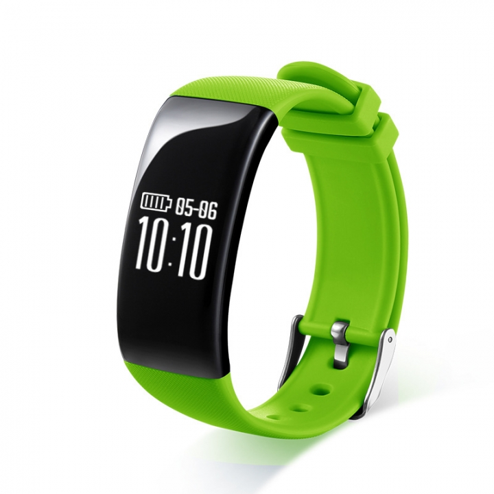 Intelligent Heart Rate Sleep Monitor Call Remind Bluetooth Movement Wristband green one size