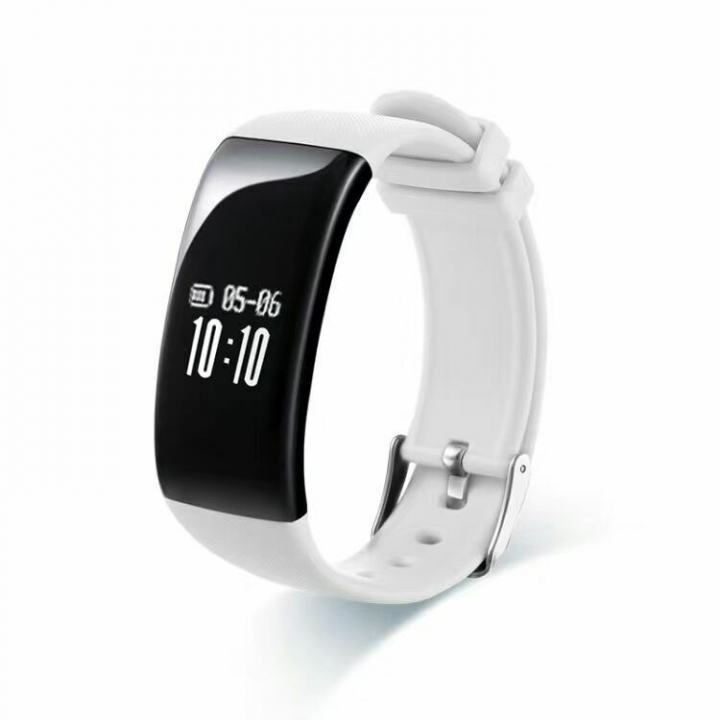 Intelligent Heart Rate Sleep Monitor Call Remind Bluetooth Movement Wristband white one size