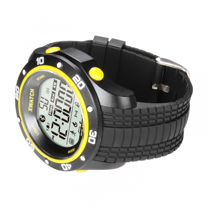 Intelligent Bluetooth Push Step 2 Years Standby Health Management Depth Waterproof Watch yellow one size