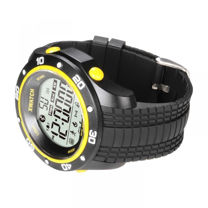 Intelligent Bluetooth Push Step 2 Years Standby Health Management Depth Waterproof Watch yellow one size