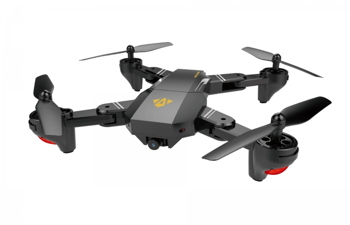 Fold Positioning UAV WIFI Biography Four axes Aircraft Aviation Remote Control Aircraft black 31.5*31.5*13cm