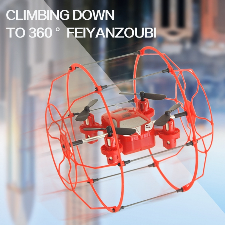 Remote Control Aircraft Any Shuttle Wrestling Mini Four Axes Aircraft UAV red 10*9.5*10 CM