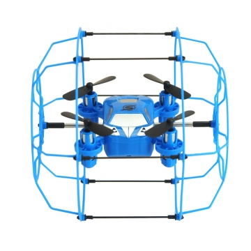Remote Control Aircraft Any Shuttle Wrestling Mini Four Axes Aircraft UAV blue 10*9.5*10 CM