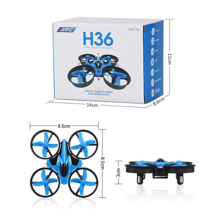 Six axes Gyro Mini Aircraft Return mode Small four axes UAV A key return blue 9.5*9.5*5