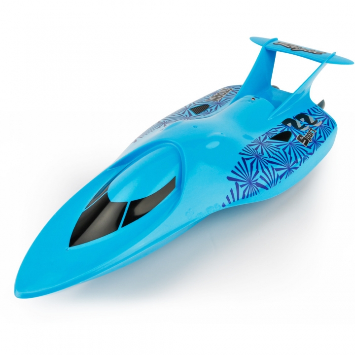 Innovation Toy Remote Control Ship Summer Child Water Toy Electric Racing Speedboat blue 33*12.5*6.5 CM