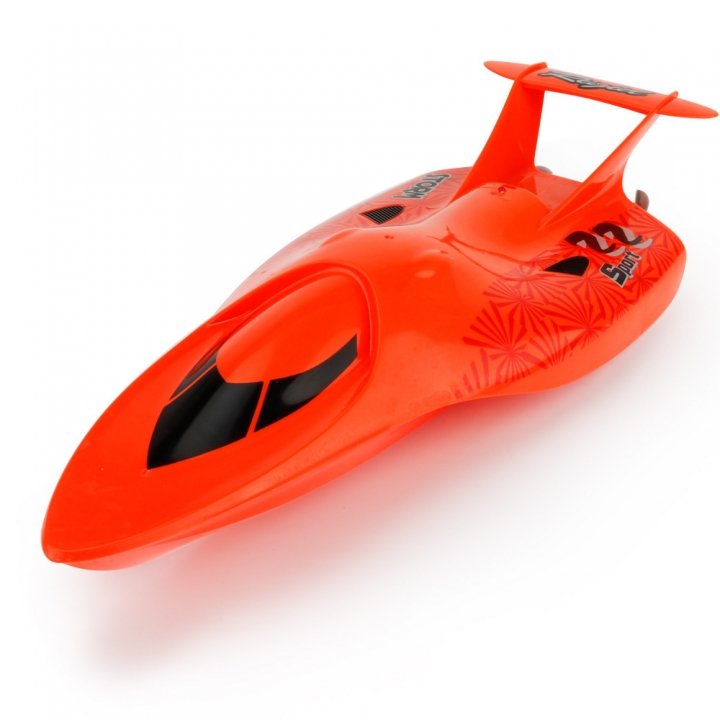 Innovation Toy Remote Control Ship Summer Child Water Toy Electric Racing Speedboat red 33*12.5*6.5 CM