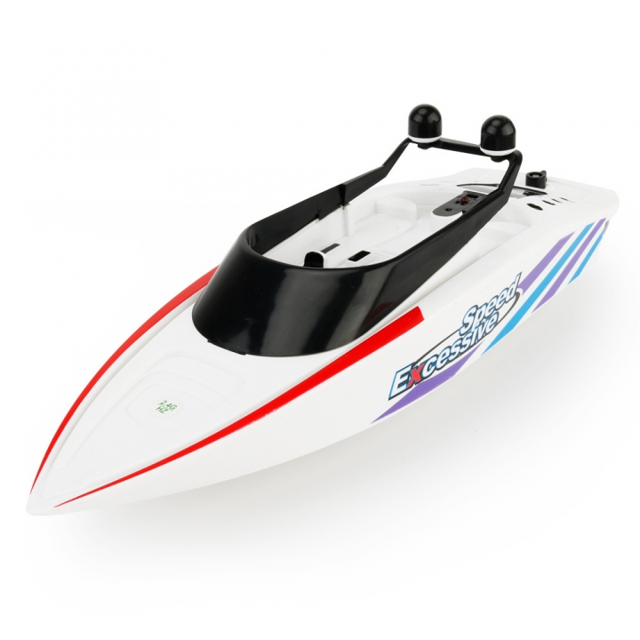 Innovation Toy Remote Control Ship Summer Child Water Toy Electric Racing Speedboat white 31*9.5*9.5 cm