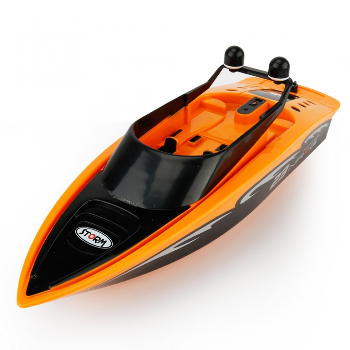 Innovation Toy Remote Control Ship Summer Child Water Toy Electric Racing Speedboat orange 31*9.5*9.5 cm