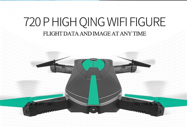 WiFi Set High Aerial Photography UAV Self-timer Pocket Mini Fold Four axes Remote Control Aircraft black 25.5*25.5*3.5cm