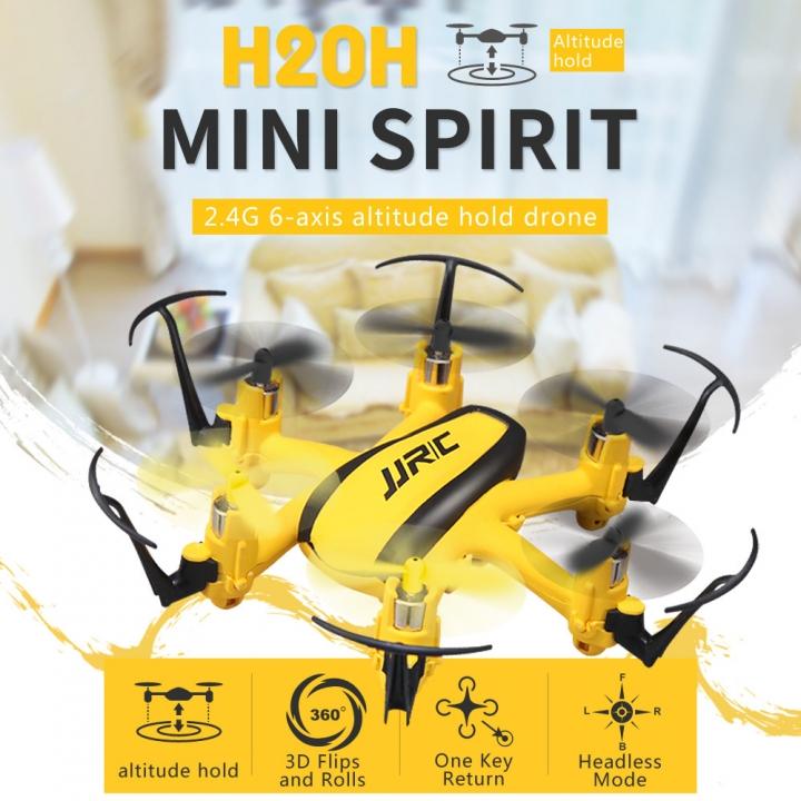 Mini Six Axes Aircraft Pattern Rotate Headless Mode One Key Return UAV yellow 10.5*10*2