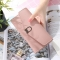 The New Ms Wallet Simple Fashion Multi-card Bit Female Models Coin Purse pink one size