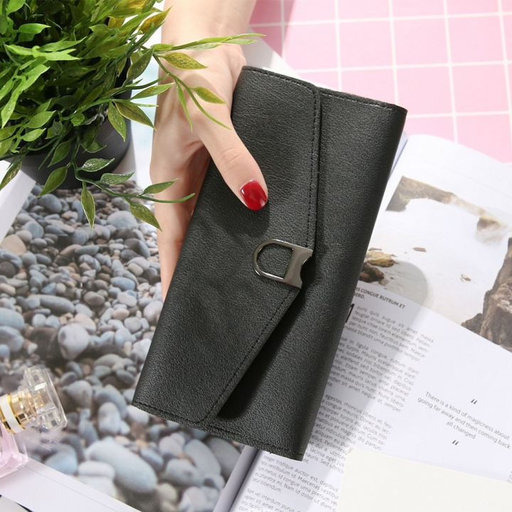 The New Ms Wallet Simple Fashion Multi-card Bit Female Models Coin Purse black one size