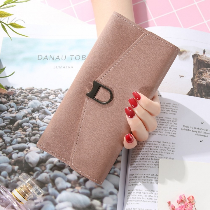 The New Ms Wallet Simple Fashion Multi-card Bit Female Models Coin Purse coffee one size