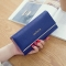 Ms Wallet Long Section Wallet High Capacity Retro Female Three Fold Wallet Handbag Wallets dark blue one size