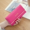 Ms Wallet Long Section Wallet High Capacity Retro Female Three Fold Wallet Handbag Wallets rose red one size