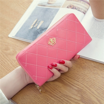 The New Long Section Ms Wallet Fashion Zipper Card Pack Female Hand bag Coin Purse watermelon red one size