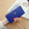 The New Long Section Ms Wallet Fashion Zipper Card Pack Female Hand bag Coin Purse blue one size