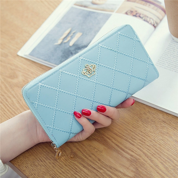 The New Long Section Ms Wallet Fashion Zipper Card Pack Female Hand bag Coin Purse ligth green one size