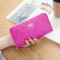 The New Long Section Ms Wallet Fashion Zipper Card Pack Female Hand bag Coin Purse rose red one size