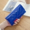 Fashion Female Wallet Patent Leather Lingge Quality Card pack Ms Long Section Wallet blue one size