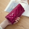 Fashion Female Wallet Patent Leather Lingge Quality Card pack Ms Long Section Wallet Big red one size