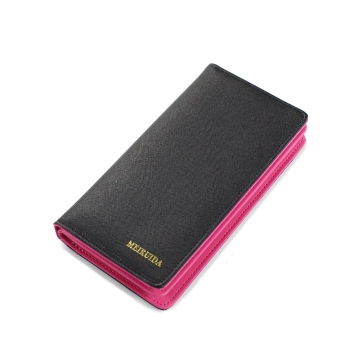 Trend The New Fashion 2 Fold Love Cross Pattern Long Section Ms Wallet black one size