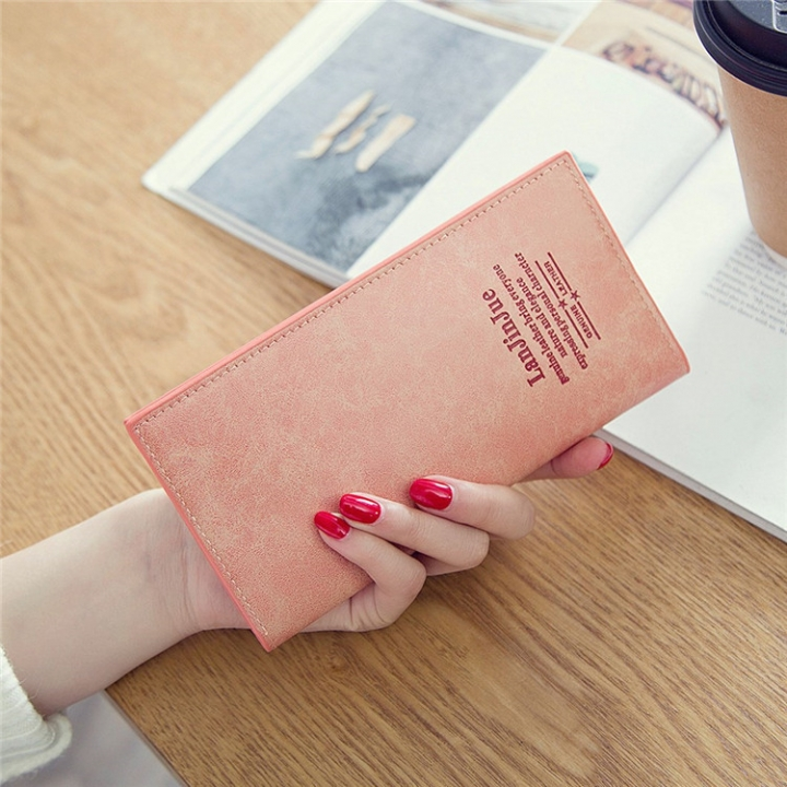 Female Long Section Ultra Thin Student Wallet Soft Skin Small Fresh Wallet Female Coin Purse watermelon red one size