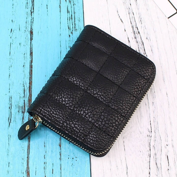 Mini Small Wallet Ms Zipper Short Section Lovely Coin Purse Student Embroidered Wallet black one size