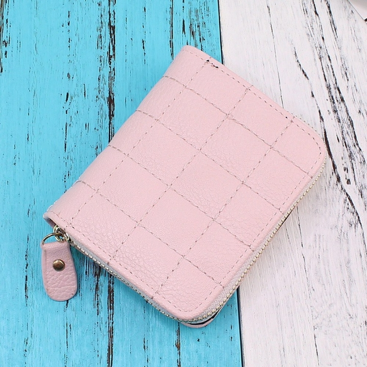 Mini Small Wallet Ms Zipper Short Section Lovely Coin Purse Student Embroidered Wallet pink one size